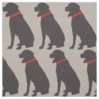 ラブラドール犬チョコレートパターン ファブリック
