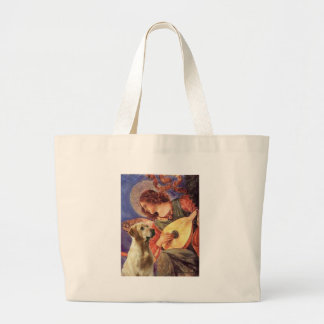 ラブラドール(Y8) -マンドリンの天使 ラージトートバッグ