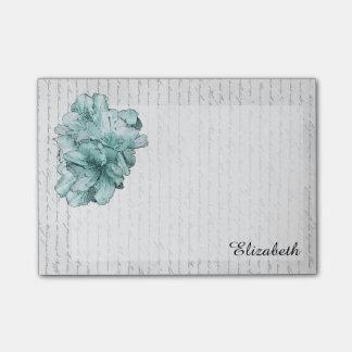 ラブレターのミントの図解入りの、写真付きのな花は名前をカスタマイズ ポストイット