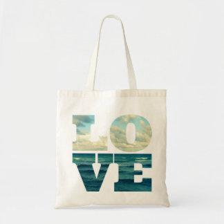 ラブレターの海の写真のバッグ トートバッグ
