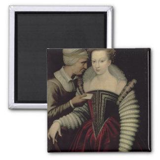 ラブレター、彼女の女中を持つ女性 マグネット