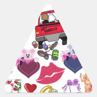 ラブロマンスもの 三角形シール