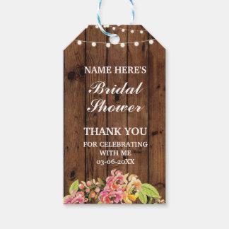ラベルの花のリースの花のブライダルシャワーありがとう ギフトタグ
