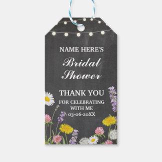 ラベルの花の野生花のブライダルシャワーありがとう ギフトタグ