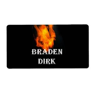ラベルは炎を#TeamBraden 発送ラベル