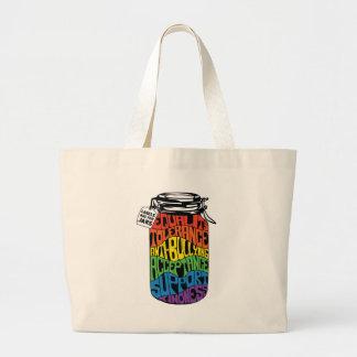 ラベルは瓶LGBTの平等のワイシャツ- Newtownのためです ラージトートバッグ