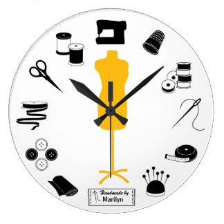 ラベルを正しく縫いますカスタマイズ ラージ壁時計