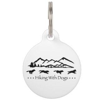 ラベルハスキーな犬IDとのハイキング ペット ネームタグ