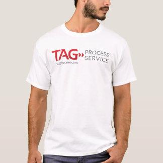 ラベルプロセスサービスフルネームのワイシャツ Tシャツ