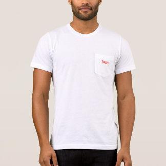 ラベルプロセスサービスレディースアメリカの服装のポケット Tシャツ