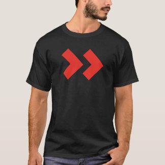 ラベルプロセスサービス人の基本的な暗いTシャツ Tシャツ