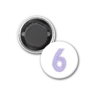 ラベンダーおよび紫色の第6磁石 マグネット