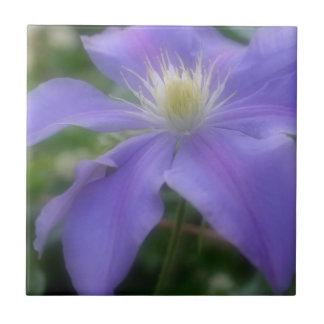 ラベンダーのクレマチスの花の自然 タイル