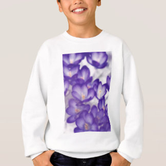 ラベンダーのクロッカスの花パッチ スウェットシャツ
