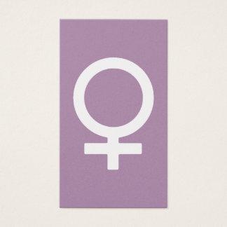 ラベンダーのハーブの女性記号 名刺