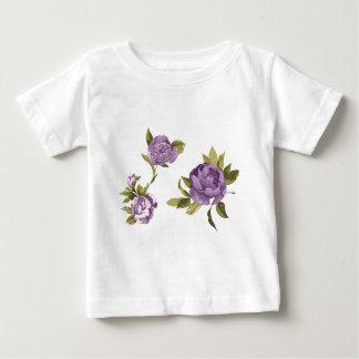 ラベンダーのバラのぼろぼろの上品 ベビーTシャツ