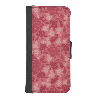 ラベンダーのバラ iPhoneSE/5/5sウォレットケース