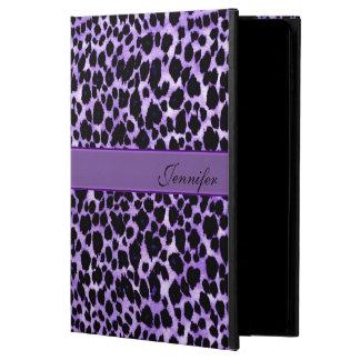 ラベンダーのヒョウの名前入りな動物のiPadの空気箱 Powis iPad Air 2 ケース