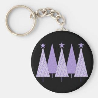 ラベンダーのリボンのクリスマスツリー- Cancer概要 キーホルダー