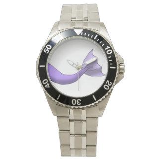 ラベンダーの人魚の尾 腕時計