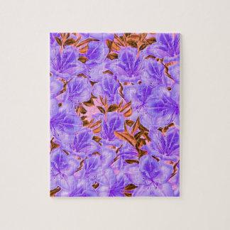 ラベンダーの抽象的な花 ジグソーパズル