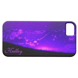 ラベンダーの日没のiPhone 5の場合の*Personalize* iPhone SE/5/5s ケース