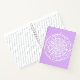 ラベンダーの曼荼羅 ノートブック