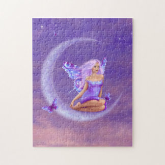 ラベンダーの月の妖精のパズル ジグソーパズル