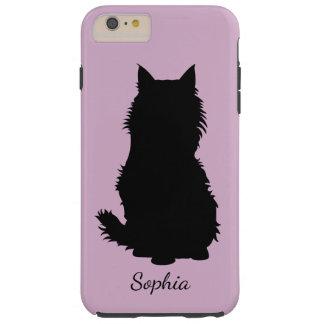 ラベンダーの柔らかい猫のシルエット TOUGH iPhone 6 PLUS ケース