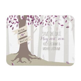 ラベンダーの森林保存日付の磁石 マグネット