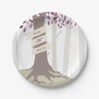 ラベンダーの森林結婚式 紙皿 小
