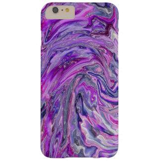ラベンダーの波の抽象美術のiPhone6ケース Barely There iPhone 6 Plus ケース
