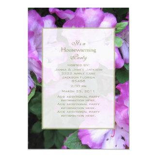 ラベンダーの端のツツジのパーティの招待状 カード