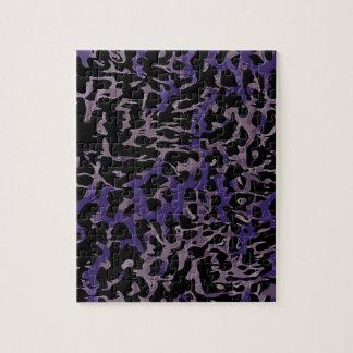ラベンダーの紫色のチータの抽象芸術 パズル