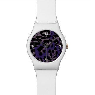 ラベンダーの紫色のチータの抽象芸術 腕時計