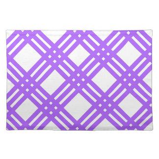 ラベンダーの紫色の格子 ランチョンマット