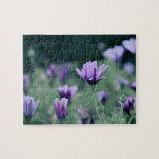 ラベンダーの紫色の花 ジグゾーパズル