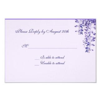 ラベンダーの花の応答カード 8.9 X 12.7 インビテーションカード