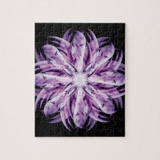 ラベンダーの花の曼荼羅 ジグゾーパズル