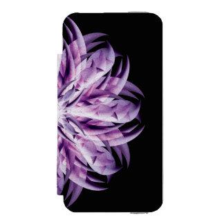 ラベンダーの花の曼荼羅 INCIPIO WATSON™ iPhone 5 財布 ケース