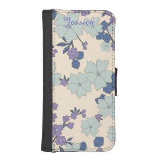 ラベンダーの花のiPhone 5の財布のスタイルの場合 iPhoneSE/5/5sウォレットケース