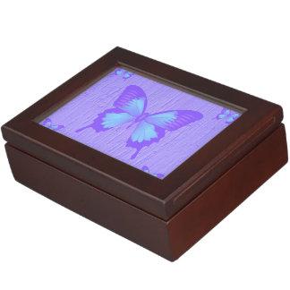 ラベンダーの蝶記念品箱 ジュエリーボックス