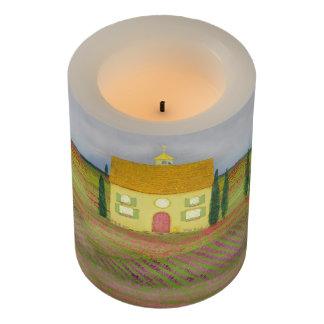 ラベンダーの車線の農場-初期のな芸術の蝋燭 LEDキャンドル