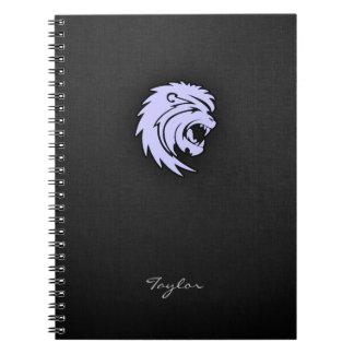 ラベンダーの青いレオのライオン ノートブック