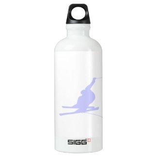 ラベンダーの青い雪のスキー SIGG トラベラー 0.6L ウォーターボトル