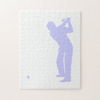 ラベンダーの青のゴルフ ジグソーパズル
