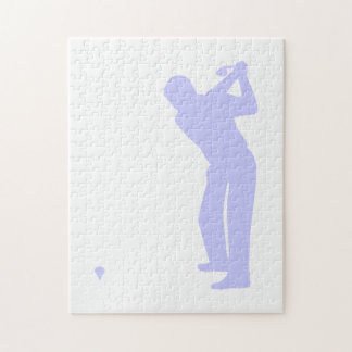 ラベンダーの青のゴルフ ジグゾーパズル