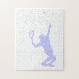 ラベンダーの青のテニス ジグゾーパズル