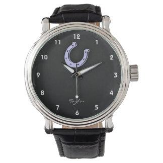 ラベンダーの青の蹄鉄 腕時計