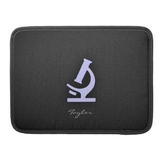 ラベンダーの青の顕微鏡 MacBook PROスリーブ